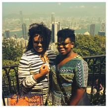 High atop Hong Kong's Victoria Peak with my sis. We also decided to bring a lil Rachel, Tracy, Kate, Tory, Gucci and Givenchy.